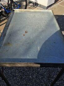 Multifunctional sturdy metal table
