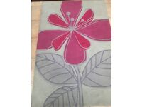 Next red flower rug great quality and condition