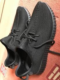 Adidas Yeezy triple black and oxford tan size 10 brand new bargain