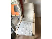 Ikea armchair and foot rest