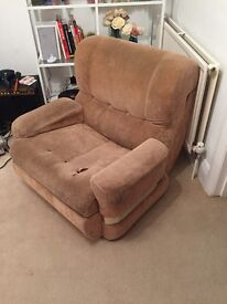 Free armchair used but very comfy