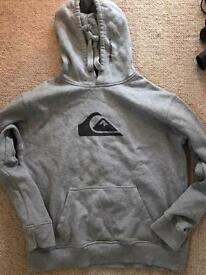 Quicksilver Medium Grey Hoodie