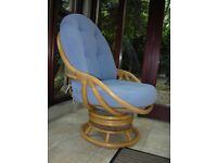 Swivel Cane Rocking Chair