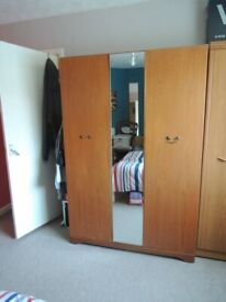 Wide Mirrored Wardrobe