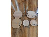 Ikea Variera / Rationell adjustable Plate or Bowl holders.