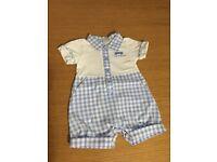 Little blue Zip Zap romper suit 1 month