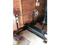 Weight plates plus Olympic bench bundle £120