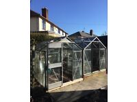 2 Greenhouses 8' x 6' aluminium & glass, to be sold together, price is for both.
