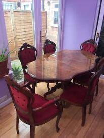 Dining Table only (Italian Mahogany)