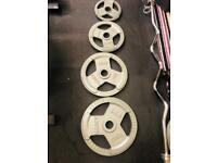 100kg weight plates tri-grip iron cast