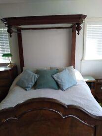 Antique half tester bed