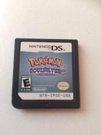 Nintendo Ds game Pokemon soul silver