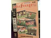 RARE NW Official football programme