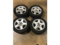 """Set of 17"""" genuine Vw alloy wheels and tyres Vw T5 T6 Transporter"""
