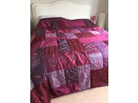 Bed cover, beautiful patchwork effect