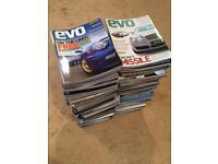 EVO car magazine, 200 editions.