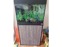 90 litre fish tank and cabinet - accessories included