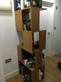 Oak Bookcase or Kya shelving unit from made . com, ideal as a room divider