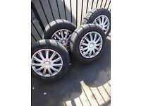 Astra wheels off 57 plate astra