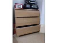 IKEA Cabinet with three drawers in birch optic, 71x70x39.6cm, great condition