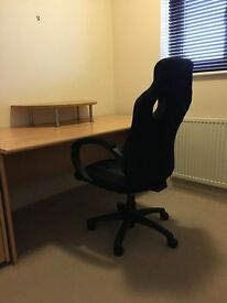 Office Furniture - desk, bookcases, drawer side unit & monitor stand