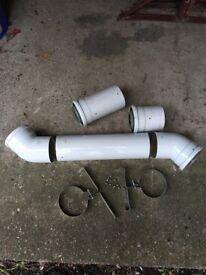 Boiler vent pipe & albo