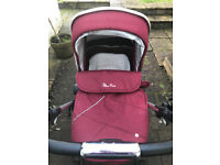 Silvercross Vintage Red pram and pushchair. Car seat optional. £200.