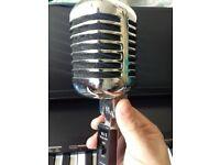 Classic Silver Retro Style Microphone