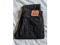 Genuine Levi's 501 32W 32L Black Jeans