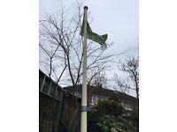 Flagpoles 5 Mt fibreglass