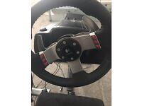 Logitech G27 Steering Wheel + Playseat Driving Station