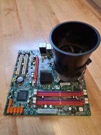 Computer motherboard, pricessor + memory