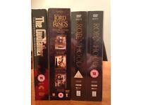DVD collection: The Godfather, Lord of the Rings & Robin Hood