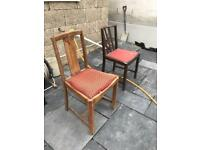 2 solid wood chairs for upcycle