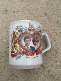 Charles and Lady Diana commemorate mug