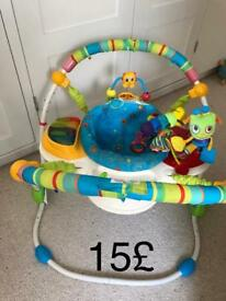 Baby bouncer swing , music , light