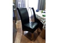 4 black dining chairs for sale!!