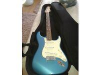 Fender Stratocaster Guitar, Amp and Bag