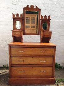 Vintage Dressing Table Chest of Drawers Reduced Free Delivery Upcycle