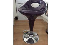 Purple kitchen bar stool