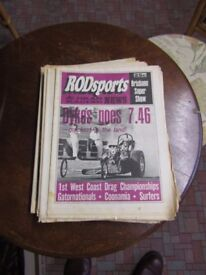 DRAG RACING MAGAZINES NEWSPAPER USA ETC
