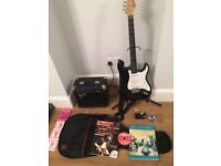 Fender squire strat guitar package in excellent condition