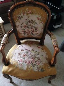 A beautiful pair of Victorian arm chairs
