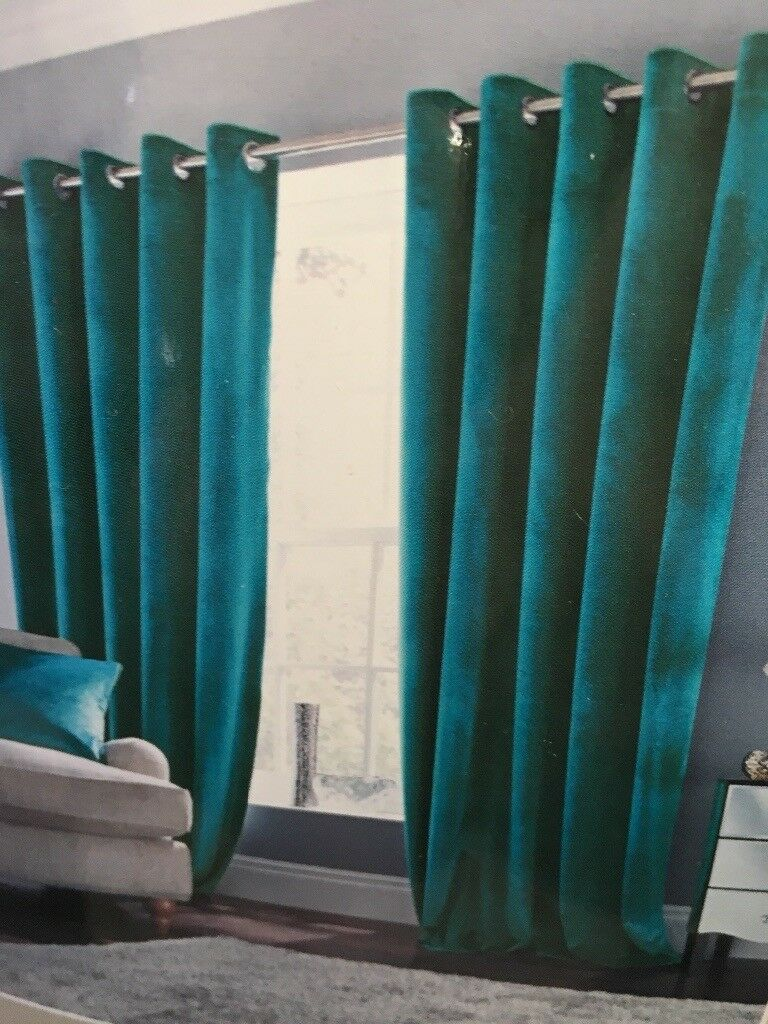 Dunelm Mill Teal Jakarta Curtains ✓ Curtain Design Lajada