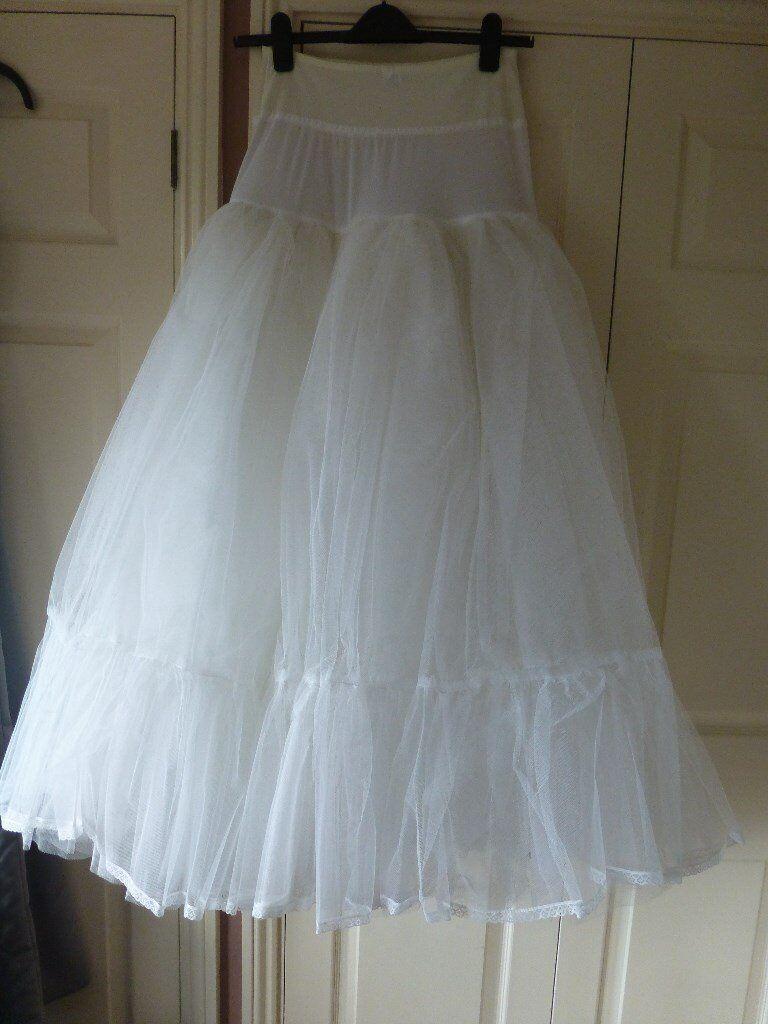 WHITE WEDDING DRESS PETTICOAT | in Swanley, Kent | Gumtree
