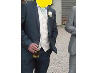 Mens slim fit Navy suit