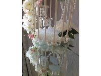 Wedding Accessories Decor - Birdcage Candle Holder Vintage Glass Tealight 4 Lantern