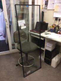 Double glazed clear glass unit, 28mm thick size 507 x 1506, a rated £30 only.