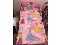 Disney Princess toddler bed with lots of extras