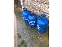 15kg calor gas bottles x3